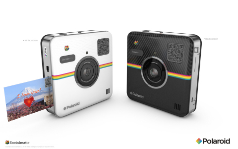 Announcing the Polaroid Socialmatic Camera at CES2014- blending traditional instant print photos with the ability to instantly share socially (Photo: Business Wire)