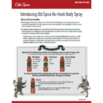 Old Spice Re-fresh Body Spray Fact Sheet