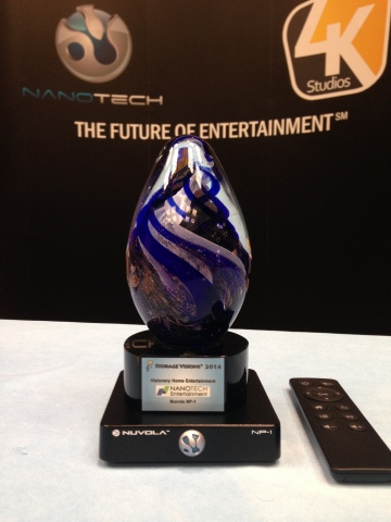 NanoTech Entertainment's Nuvola NP-1 Awarded Storage Visions 2014 Visionary Product Award (Photo: Bu ...