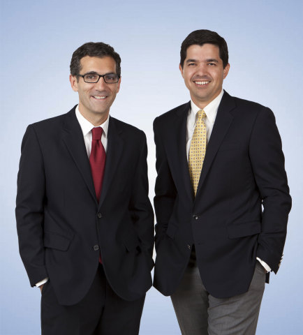 From left to right: Alberto Jimenez Crespo, CFA and Gregory D. Padilla, CFA of Aristotle Capital Management (Photo: Business Wire)