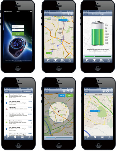 guard2me© smartphone app (Photo: Business Wire)