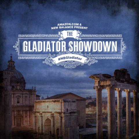 Amazon.com & New Balance Present the Gladiator Showdown #NBGLADIATOR (Graphic: Business Wire)