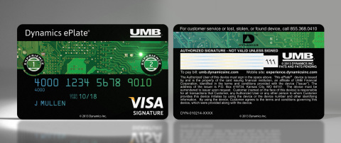 Special Edition CES ePlate Visa Card - the card that lights up! With over 70 electronic components and a computer inside. Sign up at the Dynamics Booth 31669. (Photo: Business Wire)