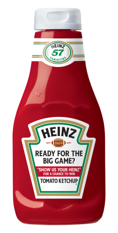 Specially marked Heinz Ketchup bottles are available now in restaurants and stores. A QR code on the back takes you to a landing page where you can enter a photo with a favorite Heinz product for the chance to win more than $400,000 in prizes. (Photo: Business Wire)