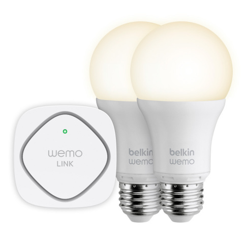 Belkin is announcing a new WeMo LED Lighting Starter Set and WeMo Smart LED Bulbs that allow you to control and manage household lighting either individually or in groups. (Photo: Business Wire)