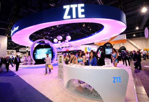 Global telecommunications provider ZTE displays its latest technology at CES 2014, South Hall 3, Boo ...
