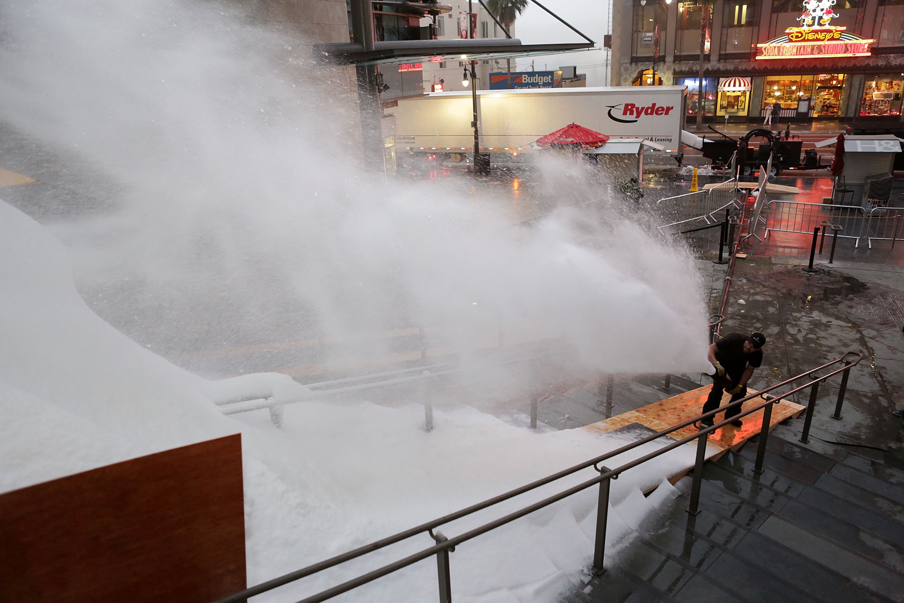 """MagicSnow creates a winter wonderland snowscape for the season premiere of ABC's """"The Bachelor."""" MagicSnow is Hollywood's go to resource for fake snow and artificial snow effects. (Photo: Business Wire)"""