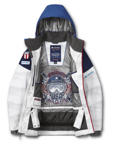 Jacket Interior Graphic (USA Moguls) (Photo: Business Wire)