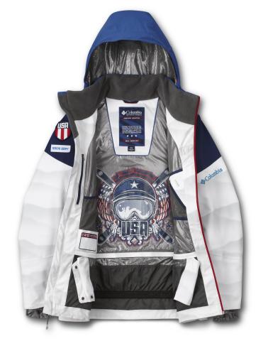 Jacket Interior Graphic (USA Moguls) (Photo: Business Wire)