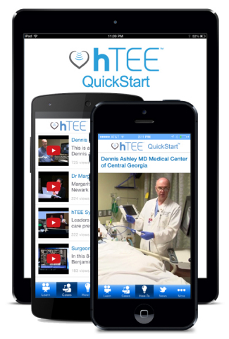 ImaCor's hTEE QuickStart app is a handy tool that complements ImaCor's comprehensive training progra ...