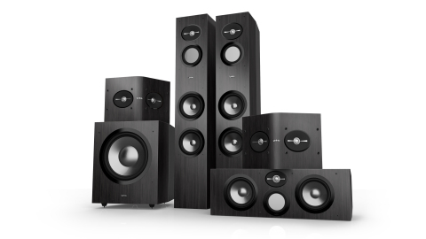 The Infinity Reference Loudspeakers Series will consist of nine models featuring a clean, contemporary look and feel with tapered side panels and a black premium finish. The series will utilize the latest HARMAN proprietary technologies to deliver amazing audio performance at accessible price points. (Photo: Business Wire)