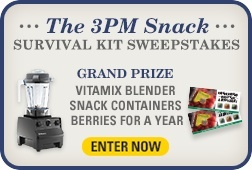 Enter to Win a Vitamix Blender or Free Berries for a Year! http://www.driscolls.com/3pm-snack-sweeps (Graphic: Business Wire)