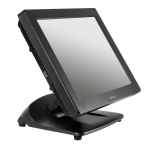 "XT3215 - New resistive 15""touch screen terminal with foldable base. The XT3215 is designed for environments when cost and performance are critical factors. Even though the XT3215 has exceptional price / performance, its quality has a foundation in the long legacy of Posiflex field-tested reliability. Its base folds and configures to an optimal angle and space. The low-profile design fits in the tightest of spaces, reducing shipping costs up to 40%. With a sleekly designed fan-free exterior, the XT3215 comes with an Intel(R) D525 1.8GHz dual core, 2GB standard DDR3 RAM (4GB maximum) and a 15"" resistive touch TFT LCD touch screen. Along with a rich array of connectivity features is the option for a mini-PCIe slot for WiFi and a wall mount bracket."