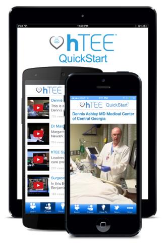 ImaCor's hTEE QuickStart app is a handy tool that complements ImaCor's comprehensive training progra ...