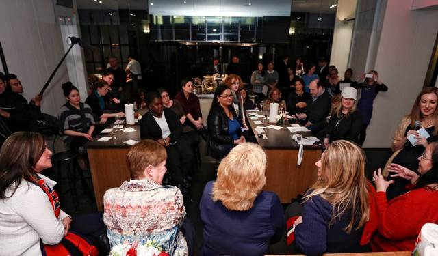"""Bounty celebrates moms everywhere during the """"Bring It"""" mom dinner on January 7, 2014, in New York City. (Brian Ach / AP Images for Bounty)"""