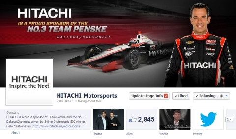 Join Hitachi Motorsports community on Facebook: http://ow.ly/slm3s (Photo: Business Wire)