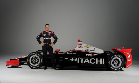 No. 3 Team Penske Dallara/Chevrolet driver and three-time Indianapolis 500 winner Helio Castroneves (Photo: Business Wire)