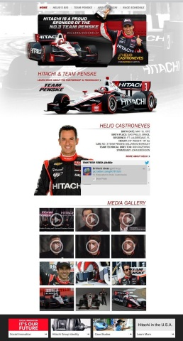 Hitachi Motorsports microsite: http://ow.ly/slmcC (Photo: Business Wire)