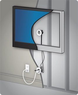legrand offers a do it yourself way to hide wall mount tv cords rh businesswire com wall mounted tv wiring conduit wall mount tv wiring diagram