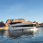 The new Axiom Star Lake Yacht at Lake Powell available for rental summer 2014. (Photo: Business Wire)