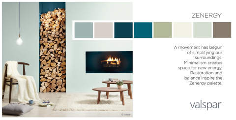 Valspar Paint Unveils 2014 Color Outlook - Zenergy Trend Palette (Photo: Valspar)