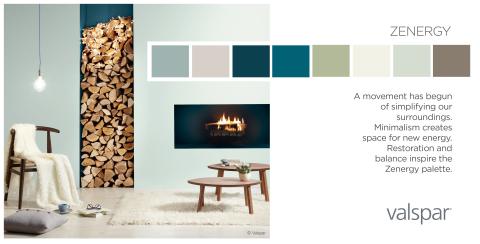 Valspar Paint Unveils 2014 Color Outlook - Zenergy Trend Palette (Photo: Valspar)
