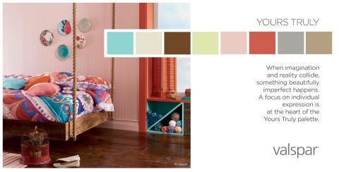 Valspar Paint Unveils 2014 Color Outlook - Yours Truly Trend Palette (Photo: Valspar)