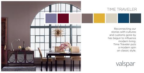 Valspar Paint Unveils 2014 Color Outlook - Time Traveler Trend Palette (Photo: Valspar)