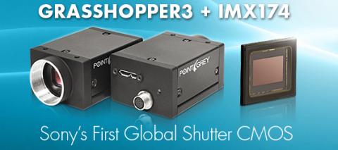 Grasshopper3 camera featuring Sony's first global shutter CMOS