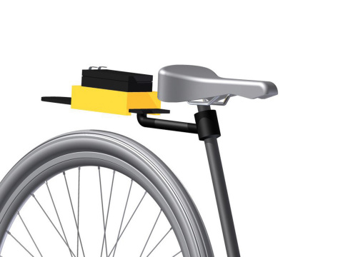 Designs For Hope, a nonprofit organization located in Alabama, created an inexpensive, durable device that holds a generator on a bike, harvests its power and conditions the electricity to feed a battery. These prototypes were created by a Dimension 3D Printer from Stratasys. (Photo: Stratasys)