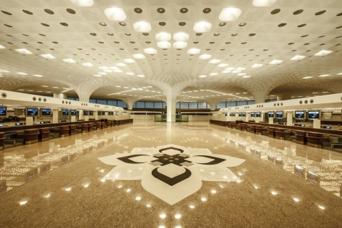 Mumbai's new iconic and state-of-the-art GVK Terminal 2 at Chhatrapati Shivaji International Airport (Photo: Business Wire)