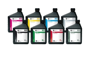 By adding red and green NeoPigment(TM) inks to the traditional CMYK color gamut, the Kornit Avalanch ...