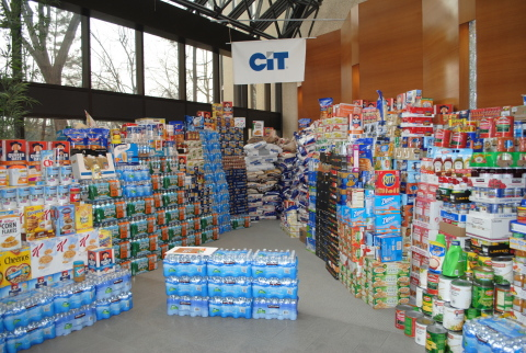 CIT Employees From 12 Offices in Four Countries Collect More than 95 Tons of Food - Enough Food To Provide More Than 158,330 Meals (Photo: Business Wire)