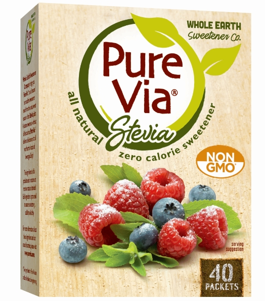 Whole Earth Sweetener Company launches a new Pure Via(R) produced with Non-GMO ingredients. (Photo: Business Wire)