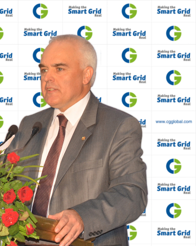 Mr. Laurent Demortier, CEO & MD, Crompton Greaves Limited (CG), at the press conference on 11th January 2014, prior to the inauguration of CG's new Automation Plant in Bangalore, India, on the same day. (Photo: Business Wire)