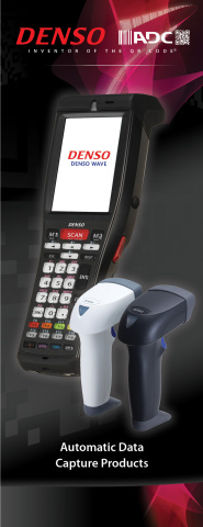 New DENSO ADC brochure highlights the company's 1-D and 2-D handheld barcode scanners, terminals and support software (Photo: Business Wire)
