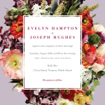"""Boundless Blossoms"" wedding invitation designed by BHLDN for Wedding Paper Divas (Graphic: Business Wire)"