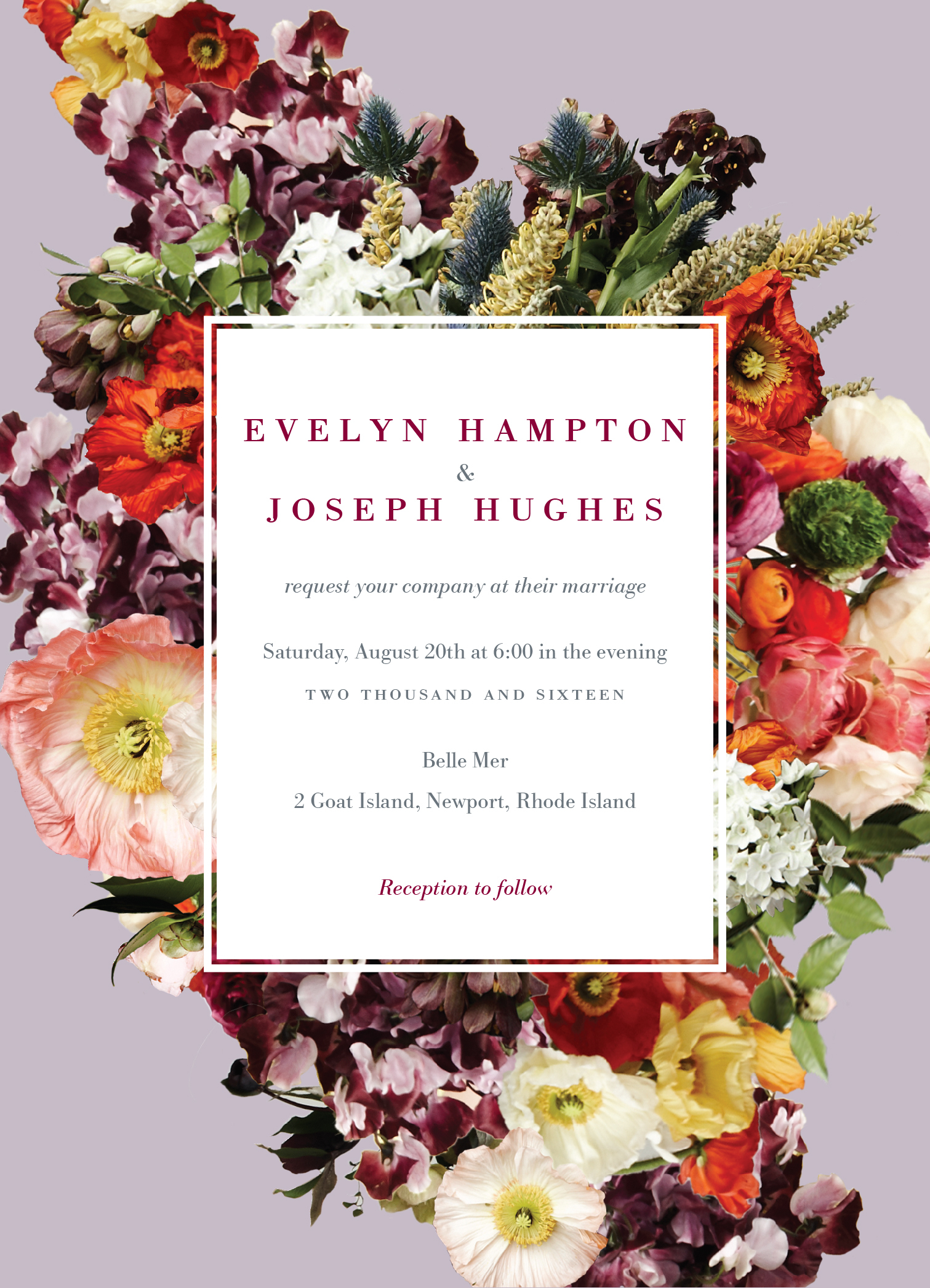 """""""Boundless Blossoms"""" wedding invitation designed by BHLDN for Wedding Paper Divas (Graphic: Business Wire)"""