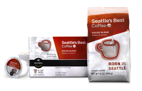 Seattle's Best Coffee is stocking shelves nationwide in groceries and mass retailers with a new medi ...