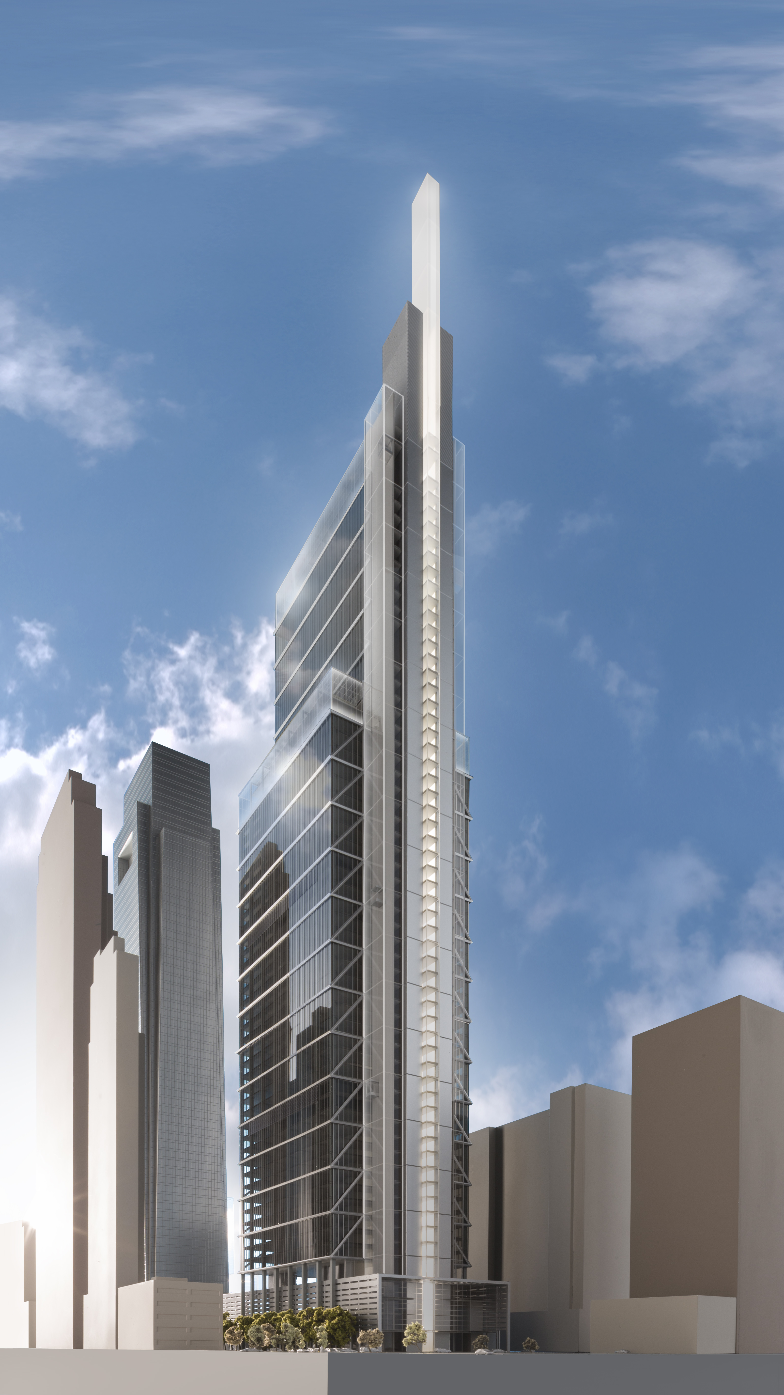 Rendering of the 'Comcast Innovation and Technology Center' designed by world-renowned architect Lord Norman Foster of Foster + Partners. The 59-story, glass and stainless steel tower is expected to be completed by year-end 2017. (Photo: Business Wire)