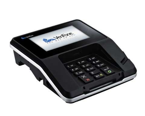 Multimedia payment terminals from VeriFone are designed to engage consumers in new ways with full-motion video display and slim, space-saving design. (Photo: Business Wire)