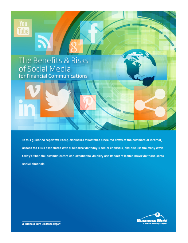 Business Wire Releases Best Practices Guide to Successfully Navigating Social Media for Publicly Held Companies (Graphic: Business Wire)