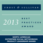 Igloo Software Wins Frost & Sullivan's 2013 Global Product Leadership Award for Enterprise Social Networking. (Graphic: Business Wire)