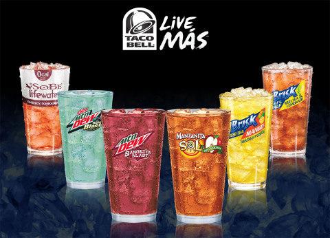 Taco Bell expands beverage menu with six unique flavors (Photo: Business Wire)
