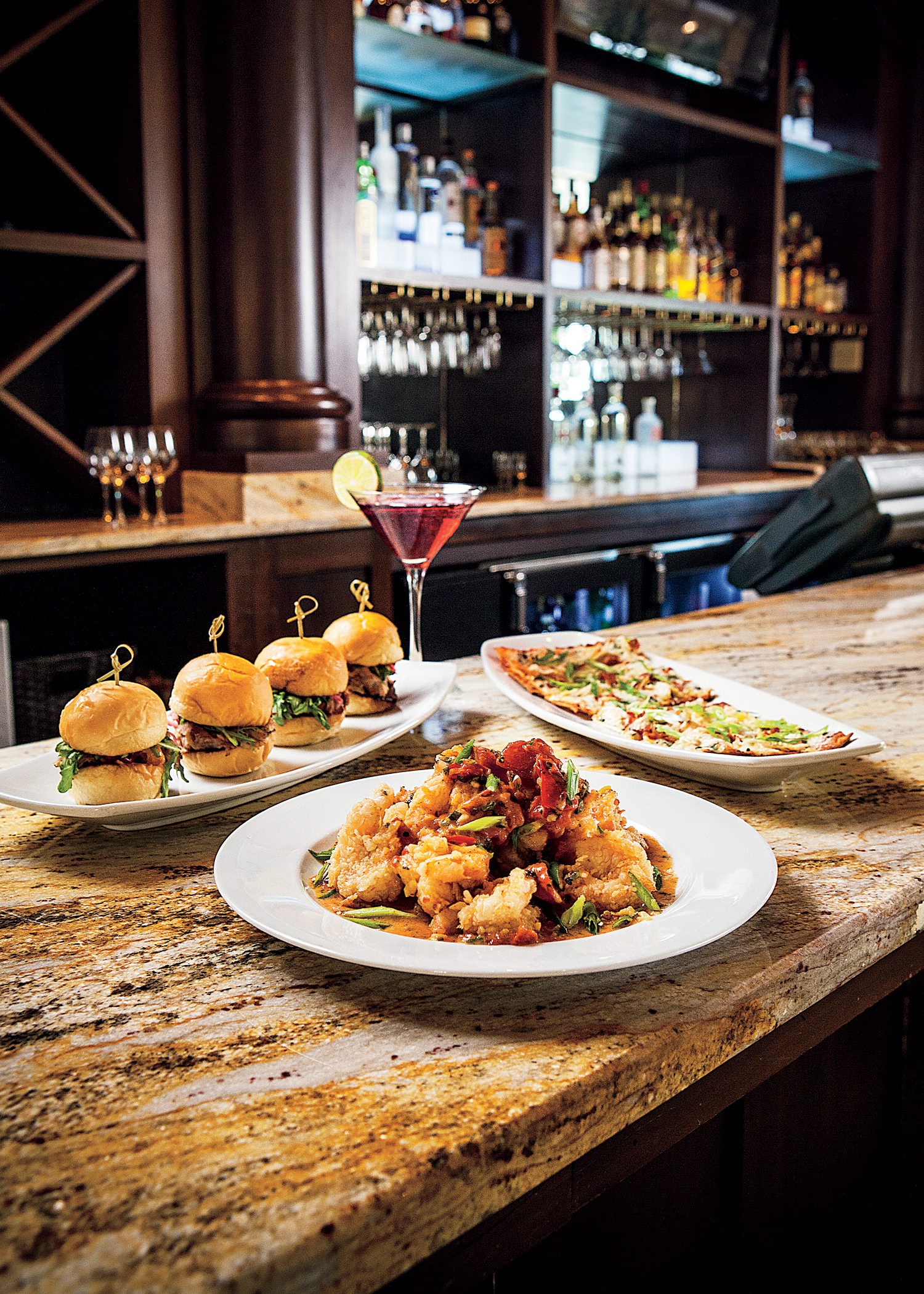 """BRAVO! Hours feature nine scrumptious """"plate"""" selections, perfect for sharing. Offered in tiered pricing from $4–$6 are dishes including the new Beef Carpaccio, the new Pulled Pork Sliders, and full appetizer portion Crispy Shrimp Napoli. (Photo: Business Wire)"""
