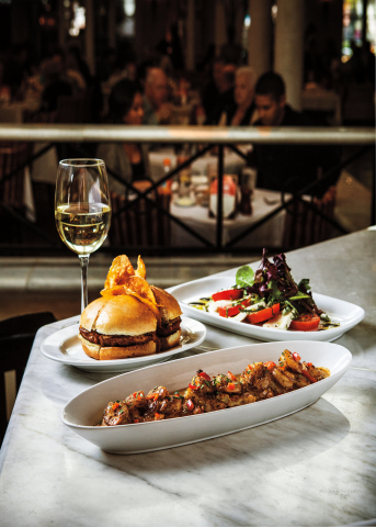 "At BRIO, BAR BRIOSO features nine tasty ""plate"" offerings, great to share. With tiered pricing from $4–$6 are selections including the new, unique Crispy Eggplant Fries, the new Fresh Vegetable & Hummus Plate, BRIO Burger, and full appetizer portion Crispy Cheese Ravioli. (Photo: Business Wire)"