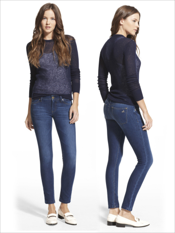 DL1961 jeans fuse softness with enhanced shape retention by combining Lenzing's ProModal(R) with INVISTA's LYCRA(R) dualFX(R) fabric technology. Photo courtesy of DL1961. LYCRA(R) and dualFX(R) are trademarks of INVISTA. ProModal(R) is a trademark of Lenzing AG.