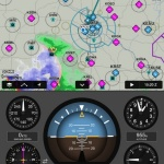 Back-up aircraft attitude information derived from the GDL 39 3D, displayed on Garmin Pilot. (Photo: Business Wire)