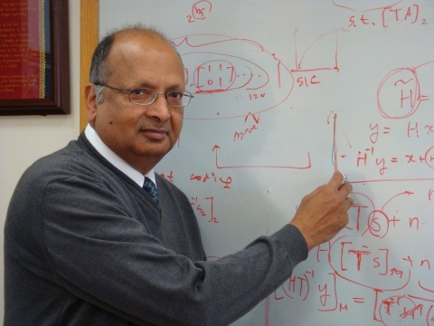 Stanford Professor (Emeritus) A. J. Paulraj, inventor of MIMO technology widely used in mobile devic ...