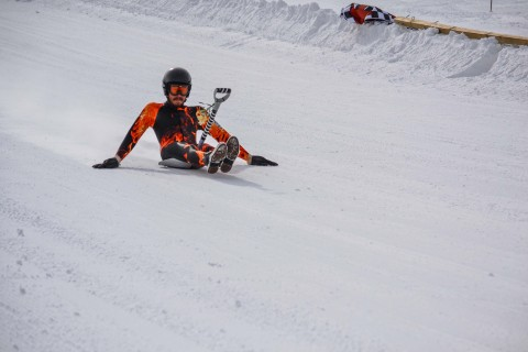 Angel Fire Resort in Angel Fire, New Mexico, is gearing up for their annual World Championship Shovel Racing competition Feb. 8, 2014. Riders are expected to reach up to 75 mph on the shovels. (Photo: Business Wire)